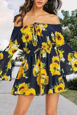 Sunflower Off Shoulder Dress