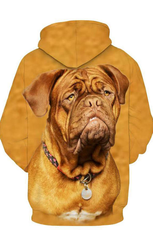 3D Graphic Hoodies  Animals Dogs Coffee French Bulldog