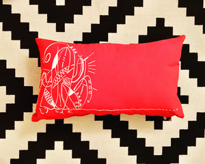 Red Cushion Model solo catus