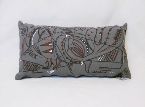Grey cushion. Cactus design