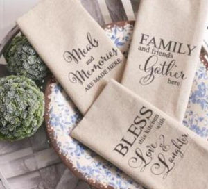 Assorted Linen Dish Towels (3 Styles)