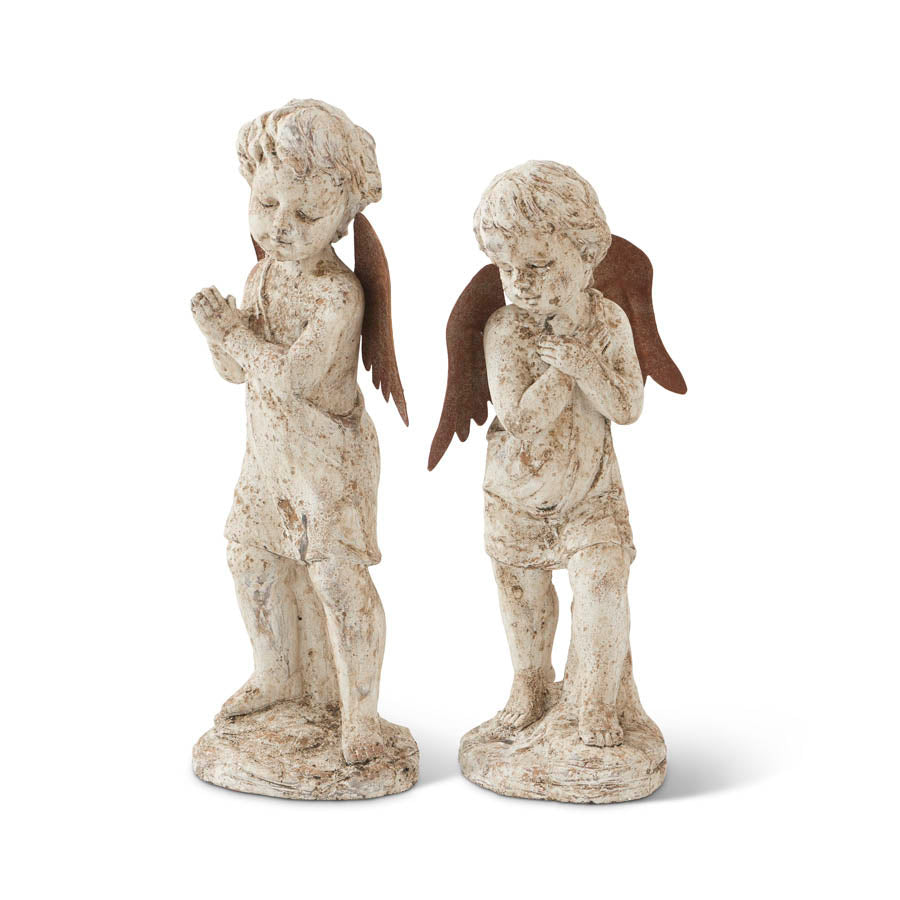 Resin and Metal Garden Angels - 2 styles