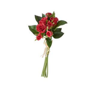 10 Inch Real Red Touch Mini Rose Bundle (7 Stems)