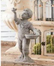 Load image into Gallery viewer, 17 Inch Resin Boy With Bird Garden Figure