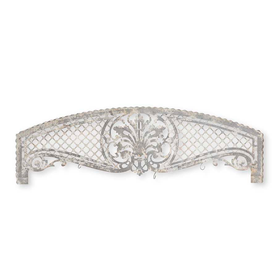 Arched Tin Wall Mounted Floral Hanger With Hooks
