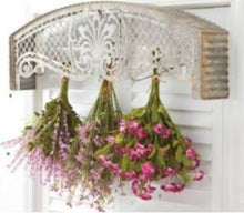 Load image into Gallery viewer, Arched Tin Wall Mounted Floral Hanger With Hooks