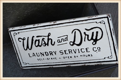 WASH DRY GLOSS SIGN