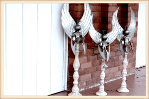 WOOD SPINDLE ANGEL S/3 - SEASONAL-HOLIDAY OS