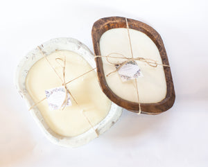 River Chic Candles - 6 Wick (Square) Dough Bowl Candle - White