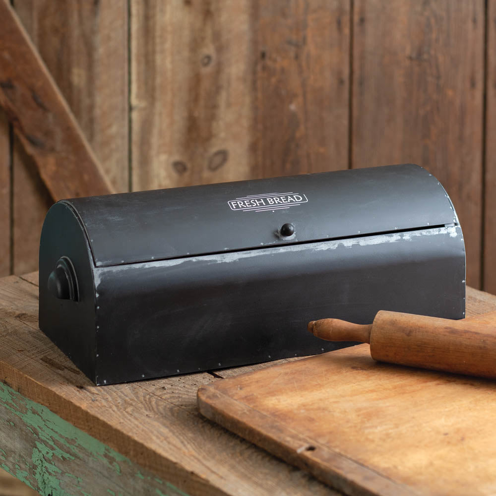 Vintage Bread Box - Black