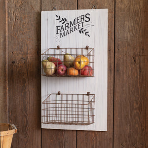 Farmers Market Hanging Wall Basket
