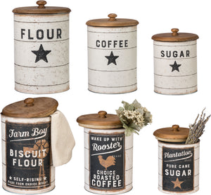 Farmhouse Canister Set - Double Sided