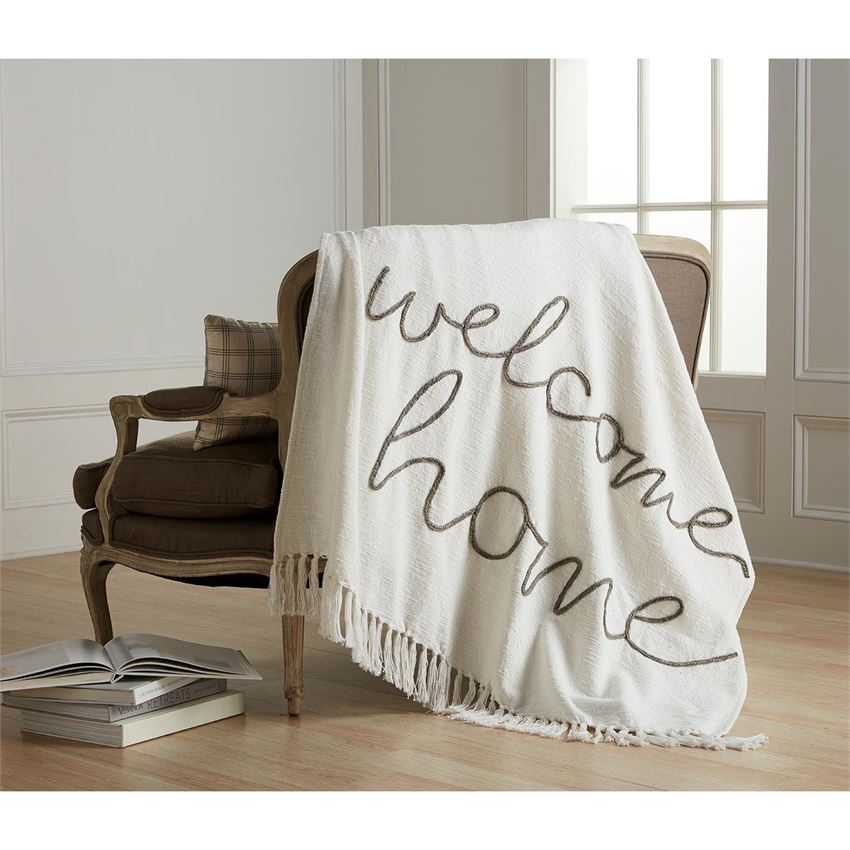 WELCOME HOME THROW BLANKET