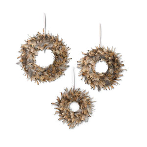 Feather Wreaths - 3 Sizes Available
