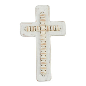 SMALL BEADED WOOD CROSS