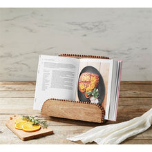 Load image into Gallery viewer, BEADED WOOD COOKBOOK HOLDER