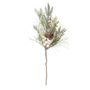 28 Inch Needle Spray with White Berries