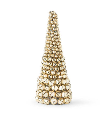 17  Inch Gold Jingle Bell Cone