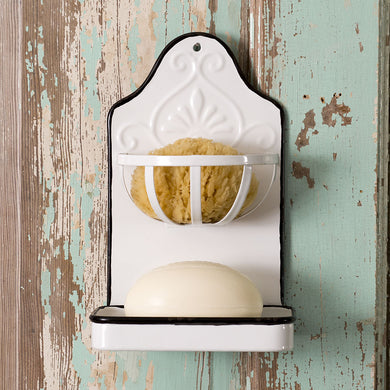 Metal Wall Soap and Sponge Holder