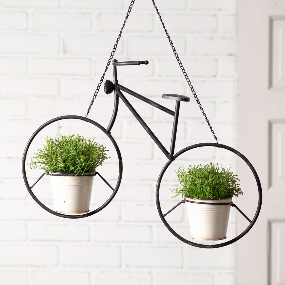 Hanging Bicycle Planter