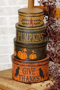 Nesting Boxes - Primitive Autumn