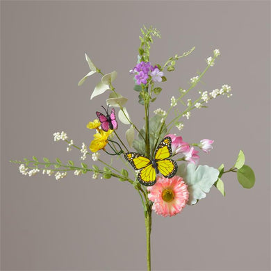 Pick Floral - Assorted Flowers - Greens and Butterflies - pack of two