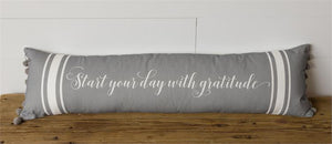 Lumbar Pillow - Start Your Day with Gratitude