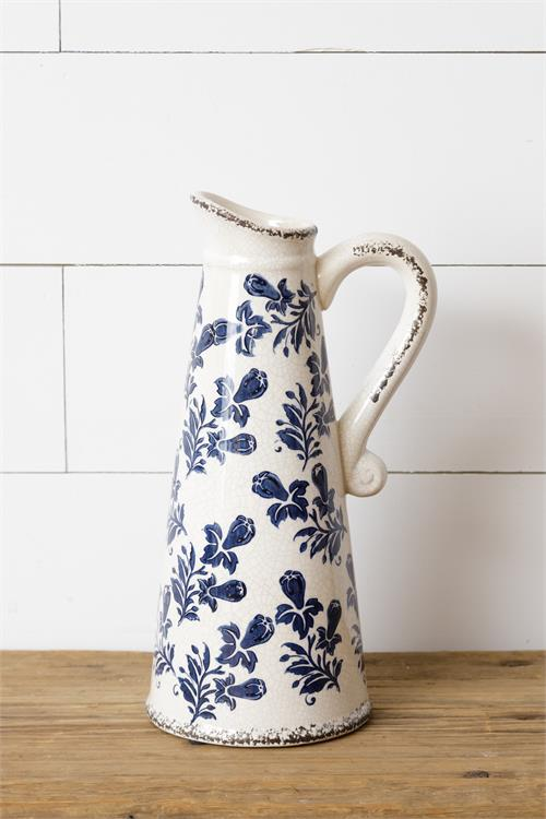 Pitcher - Blue Floral