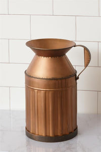 Milk Can Pitcher - Weathered Copper