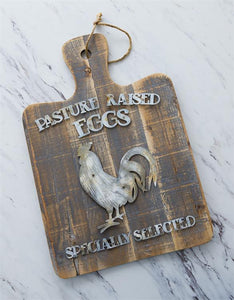 Hanging Cutting Board - Pasture Raised Eggs