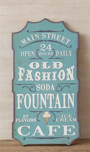 Old Fashions Soda Fountain - Sign