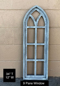 9 Pane Wooden Window frame