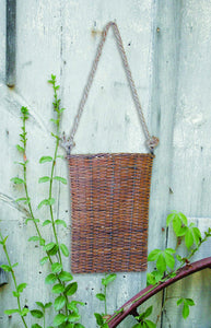 Willow Basket with Rope Hanger - 16""