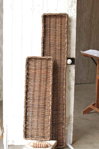"Long Willow Tray | Natural | 36"" - Photo on left"