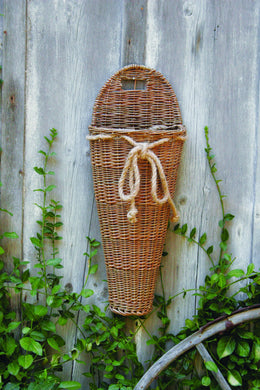 Willow Wall Basket w/ Rope Bow | Natural | 26