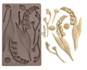 REDESIGN DÉCOR MOULDS®- BELL ORCHIDS 5″X 8″ 8 MM THICKNESS