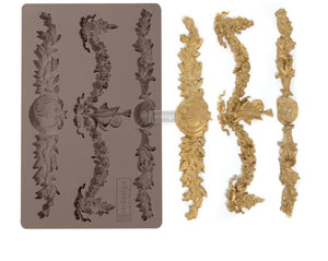 REDESIGN DÉCOR MOULDS® -GLORIOUS GARLAND 5″X 8″ 8 MM THICKNESS
