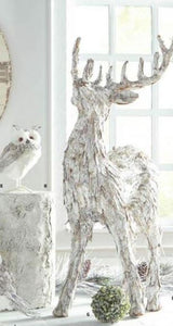 Whitewashed Bark Reindeer