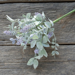 "14.5"" LAVENDER AND LAMBS EAR BUSH"