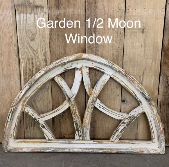 Garden Half Moon Window - White