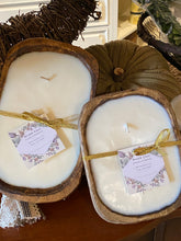 Load image into Gallery viewer, LIMITED EDITION - Brown OR White - 2 Wick Dough Bowl Candle & Includes a Free Refill Kit
