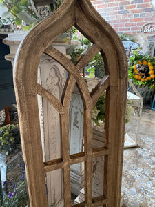 12 Pane Wooden Window frame - Tan