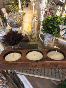 River Chic Candles - 3 Hole Cheese Mold Candle - Brown