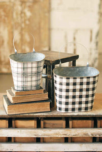 Plaid Wall Pockets | Set/2