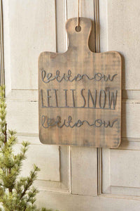 Layering Board | Let It Snow | 18.5""
