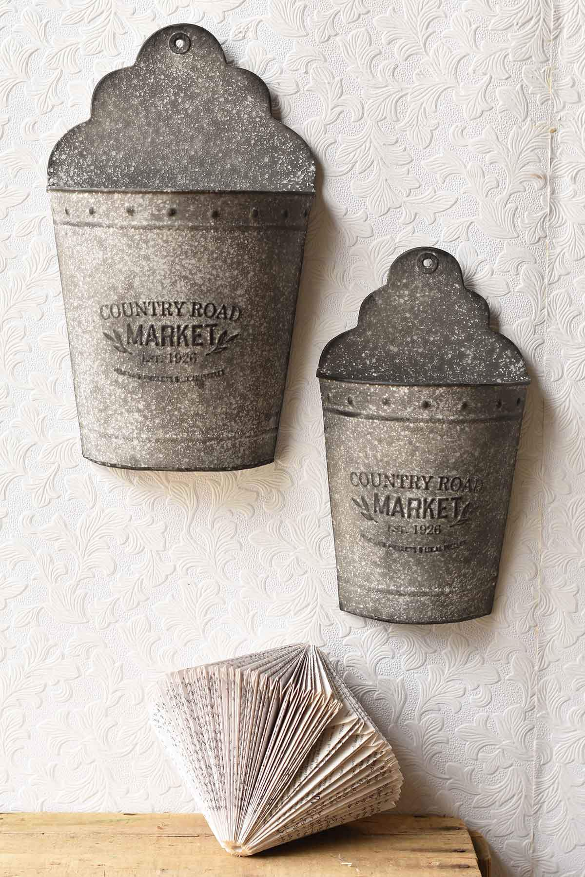 Country Road Market Wall Pockets | Set/2