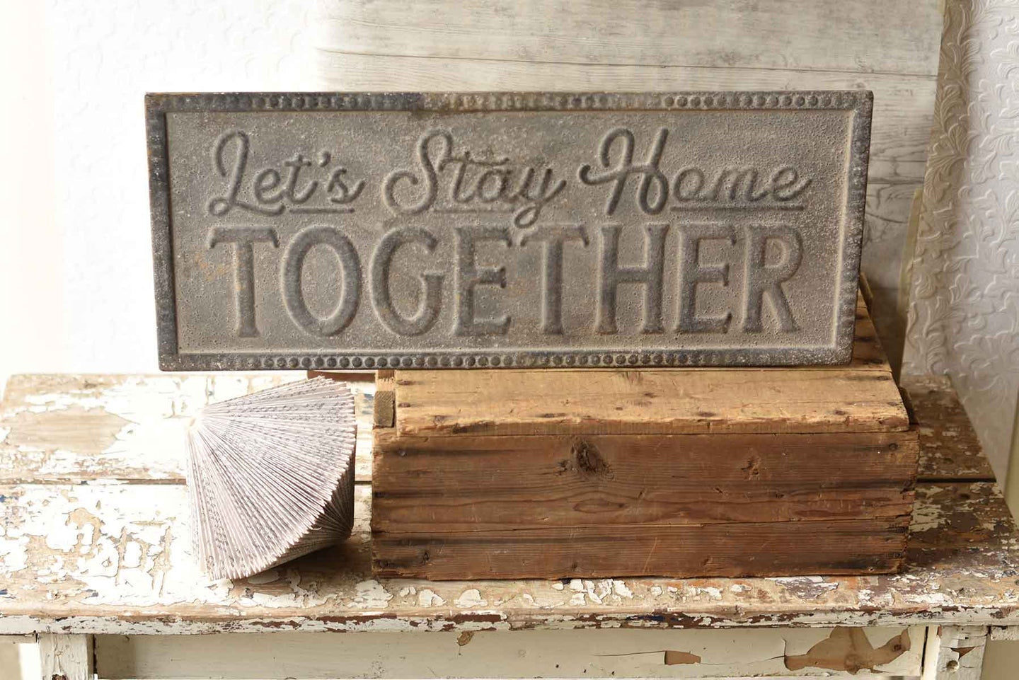 Stay Home Together Metal Sign | 24