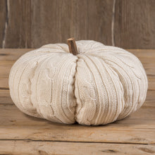 "Load image into Gallery viewer, 10"" PARCHMENT KNIT PUMPKIN"
