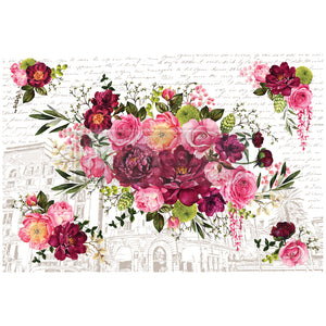 Redesign with Prima - Re.Design Decor Transfers - Royal Burgundy