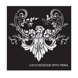 Redesign with Prima - Redesign Adhesive Silk Screen Stencil - Provence Rose